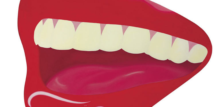 """This picture provided by Christie's shows a 1967 oil painting by Tom Wesselmann titled """"Mouth #8.""""  It is one of 125 items of original art from the Playboy Enterprises archive up for sale at a Dec. 8 auction at Christie's in New York dubbed """"The Year of the Rabbit."""" Nearly all the items in the sale have appeared in Playboy magazine, a cultural icon that helped liberate American sexual mores.(AP Photo/CHRISTIE'S IMAGES LTD.)"""